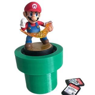 Case Tubo - Super Mario - 9 Cartuchos