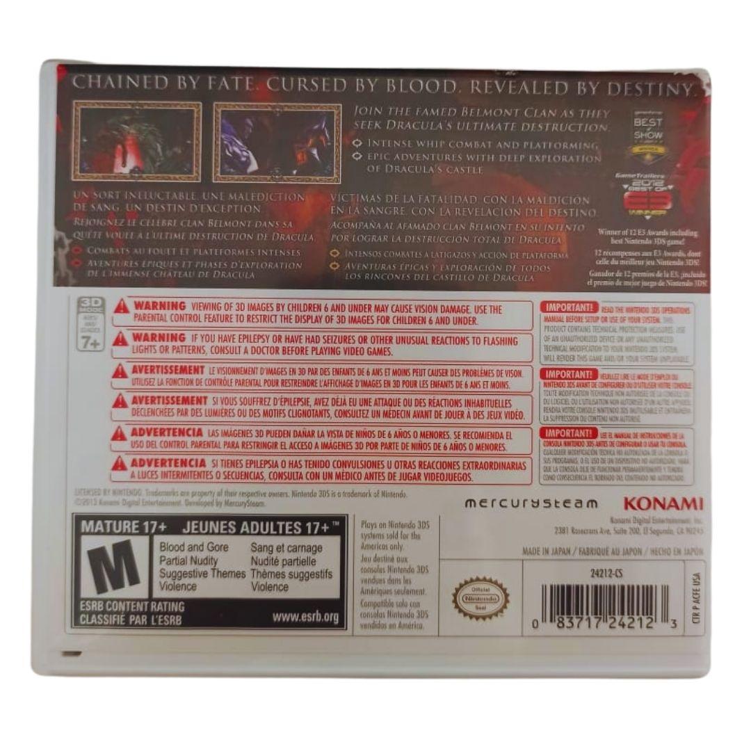 Castlevania Lords of Shadow: Mirror of Fate - Nintendo 3DS - Usado