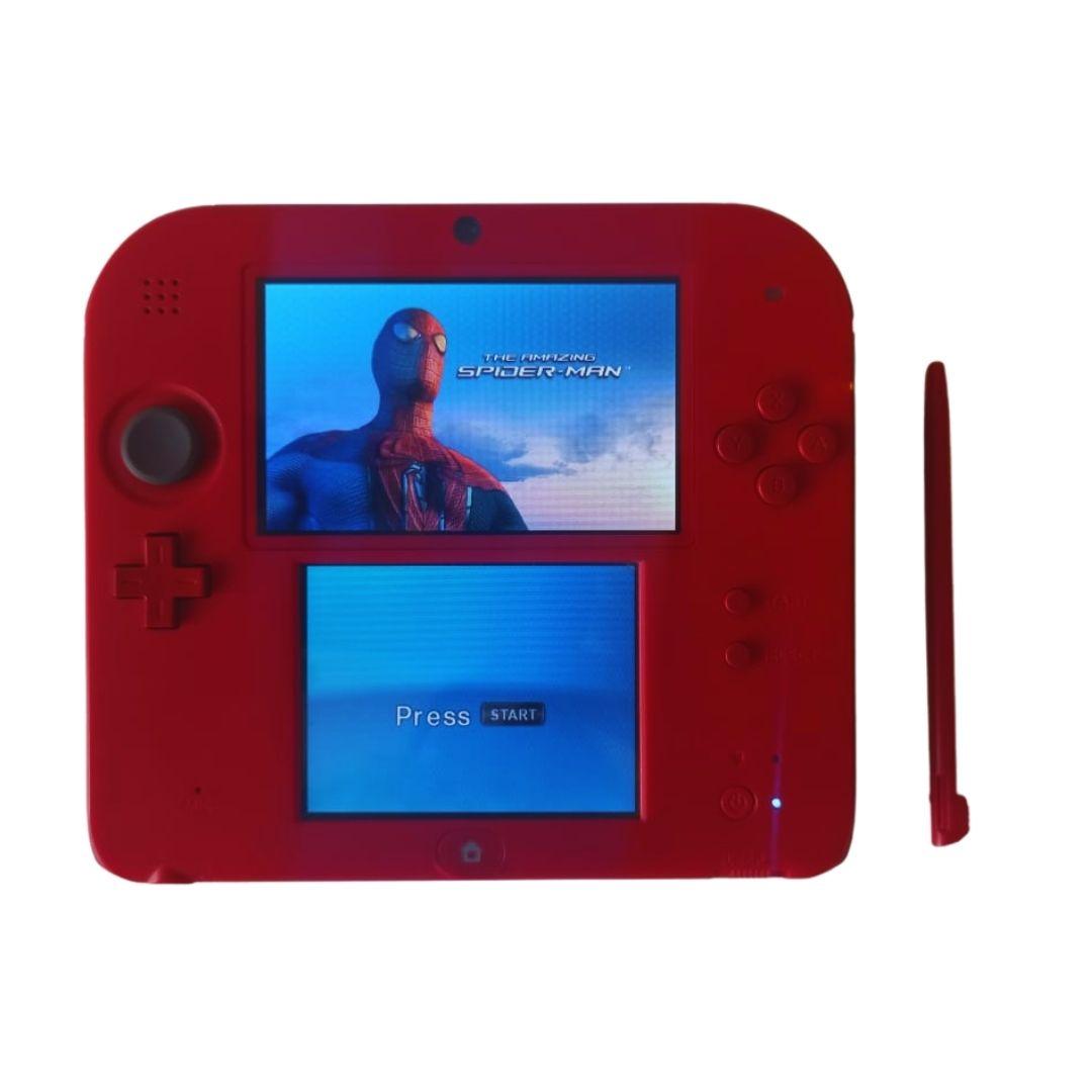 Console Nintendo 2DS Vermelho  + Case + Carregador + 1 Jogo - Usado