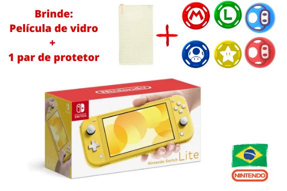 Console Nintendo Switch Lite - Amarelo - 32GB - Versão Nacional - Pré-Venda