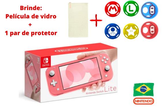 Console Nintendo Switch Lite - Coral - 32GB - Versão Nacional - Pré-Venda