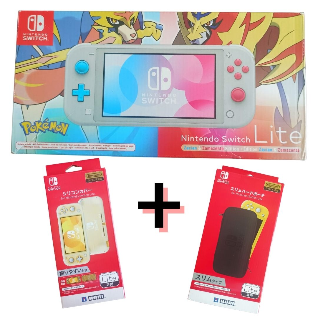 Console Nintendo Switch Lite Pokémon Edition + Case + Capa  - USADO