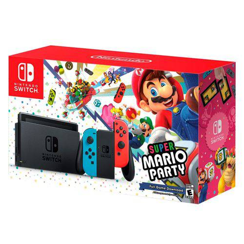 Console Nintendo Switch Neon 32G Bundle Super Mario Party