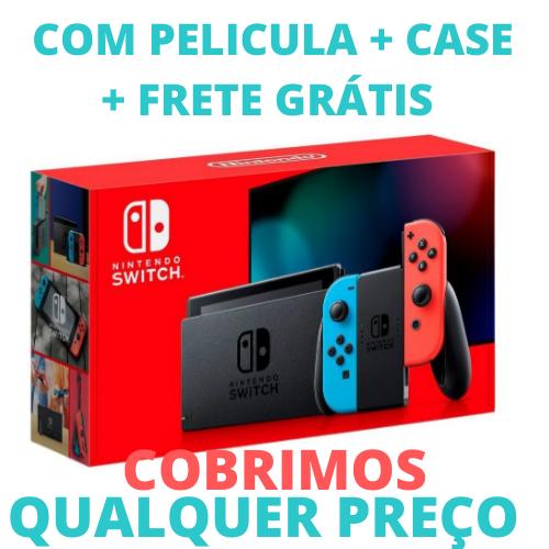 Console Nintendo Switch Neon C/ Película de Brinde- Nova Edição