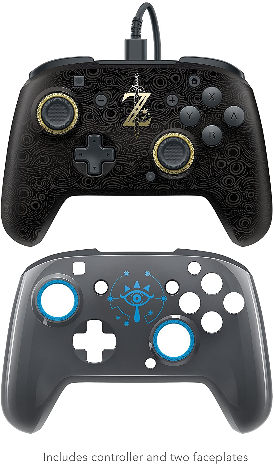 Contole PDP Faceoff Deluxe Wired Pro Controller - Breath of the Wild - Nintendo Switch - Envio Internacional