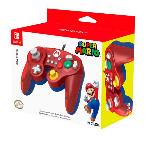 Controle Battle Pad Mario Hori Switch
