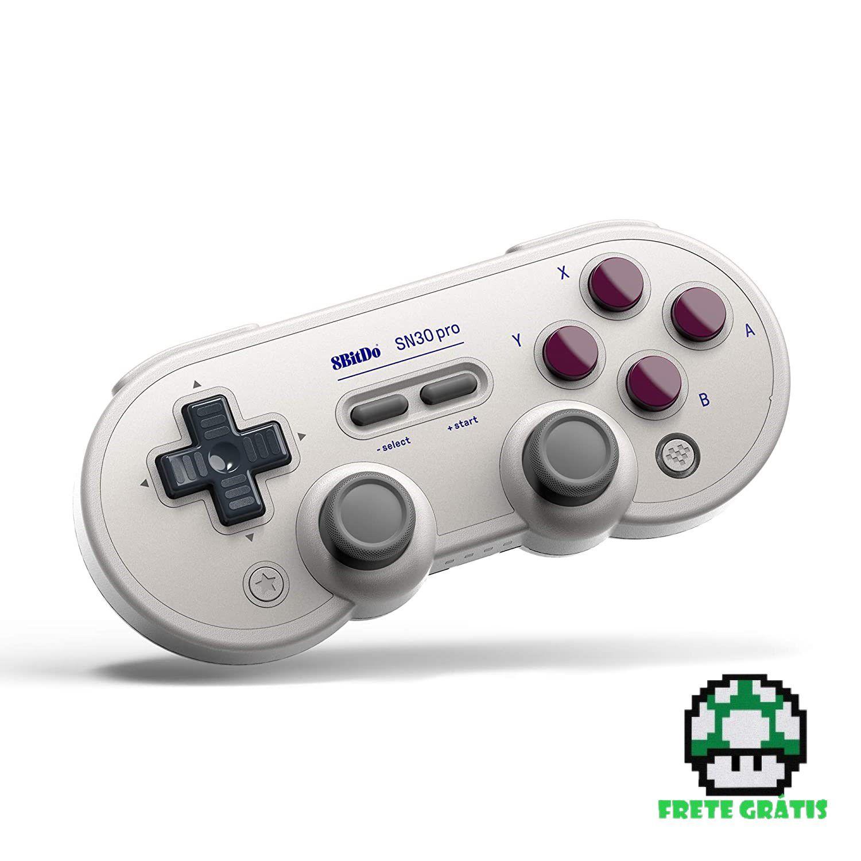Controle Gamepad SN30 Pro - G Classic Edition 8BitDo - Nintendo Switch - Envio Internacional - Frete Grátis