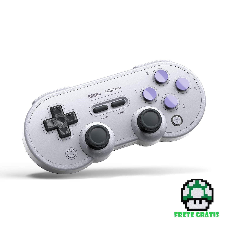 Controle Gamepad SN30 Pro Classic / SN Edition 8BitDo - Nintendo Switch - Envio Internacional - Frete Grátis