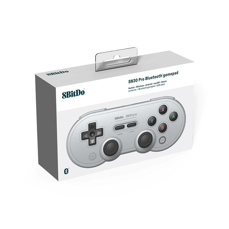 Controle Gamepad SN30 Pro 8BitDo - Gray Edition - Nintendo Switch