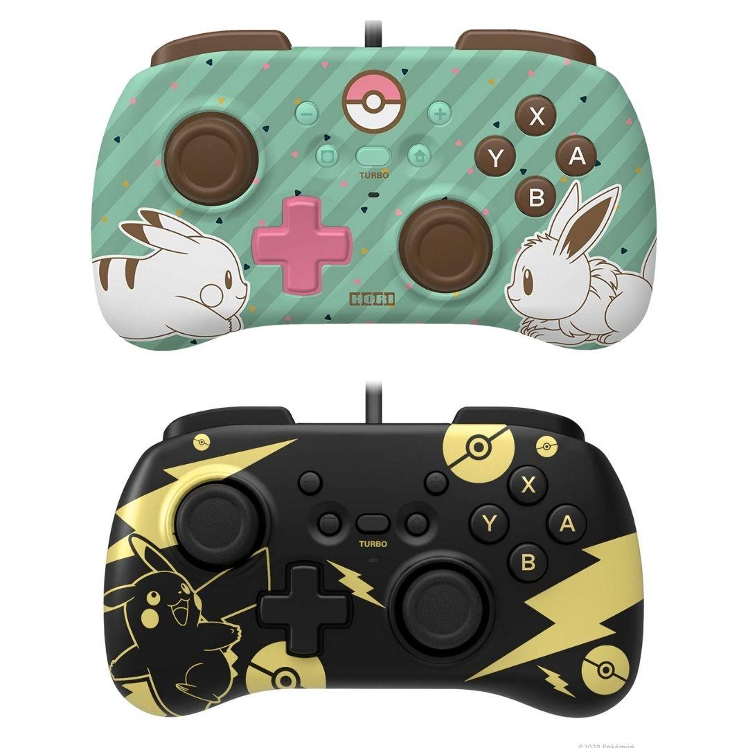 Controle Horipad Mini: Eevee/Pikachu - Nintendo Switch