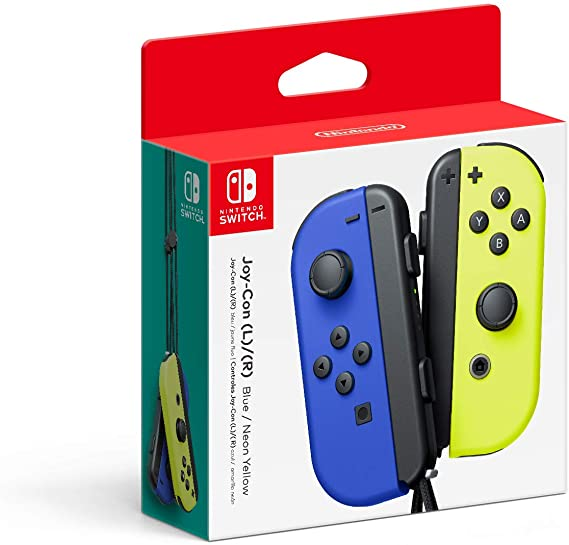 Controle Joy-Con - Azul/Amarelo - Nintendo Switch - Envio Internacional