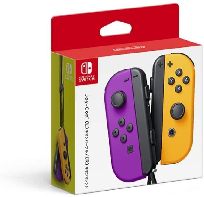 Controle Joy-Con (L/R) - Neon Roxo / Neon Laranja - Nintendo Switch - Envio Internacional - FRETE GRÁTIS