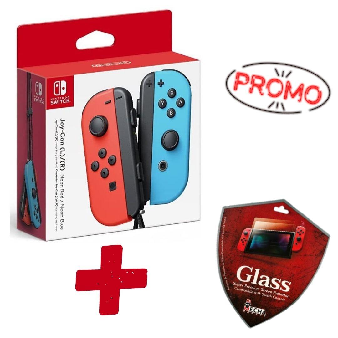 Controle Joy-Con Neon + Brinde Película Protetora Glass Super Premium - Nintendo Switch - Envio Internacional