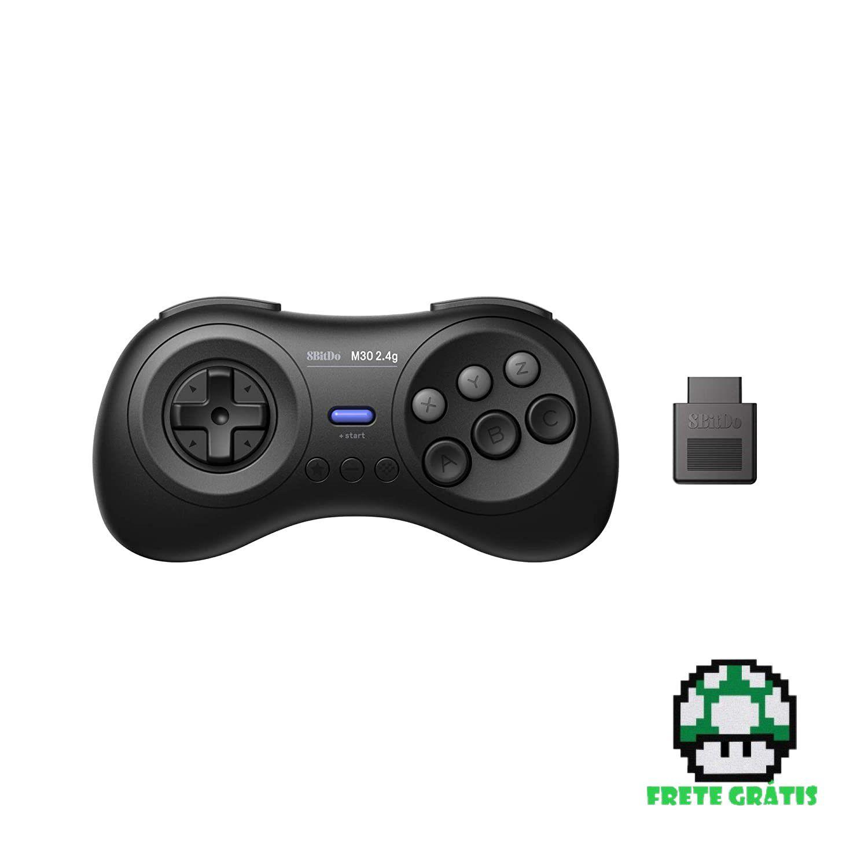 Controle M30 2.4 G SEGA & Mega Drive 8BitDo - Envio Internacional - Frete Grátis
