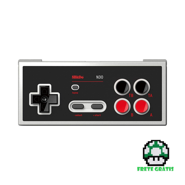 Controle N30 Bluetooth 8BitDo - Nintendo Switch - Envio Internacional - Frete Grátis