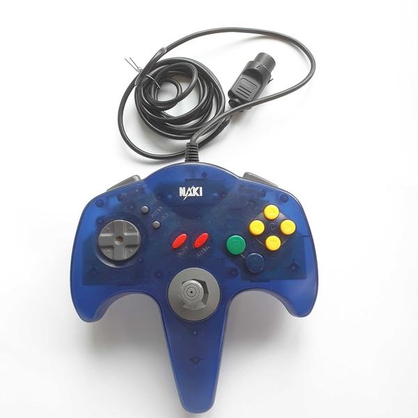 Controle para Nintendo 64 (Azul Transparente) NAKI - Nintendo 64 - Usado