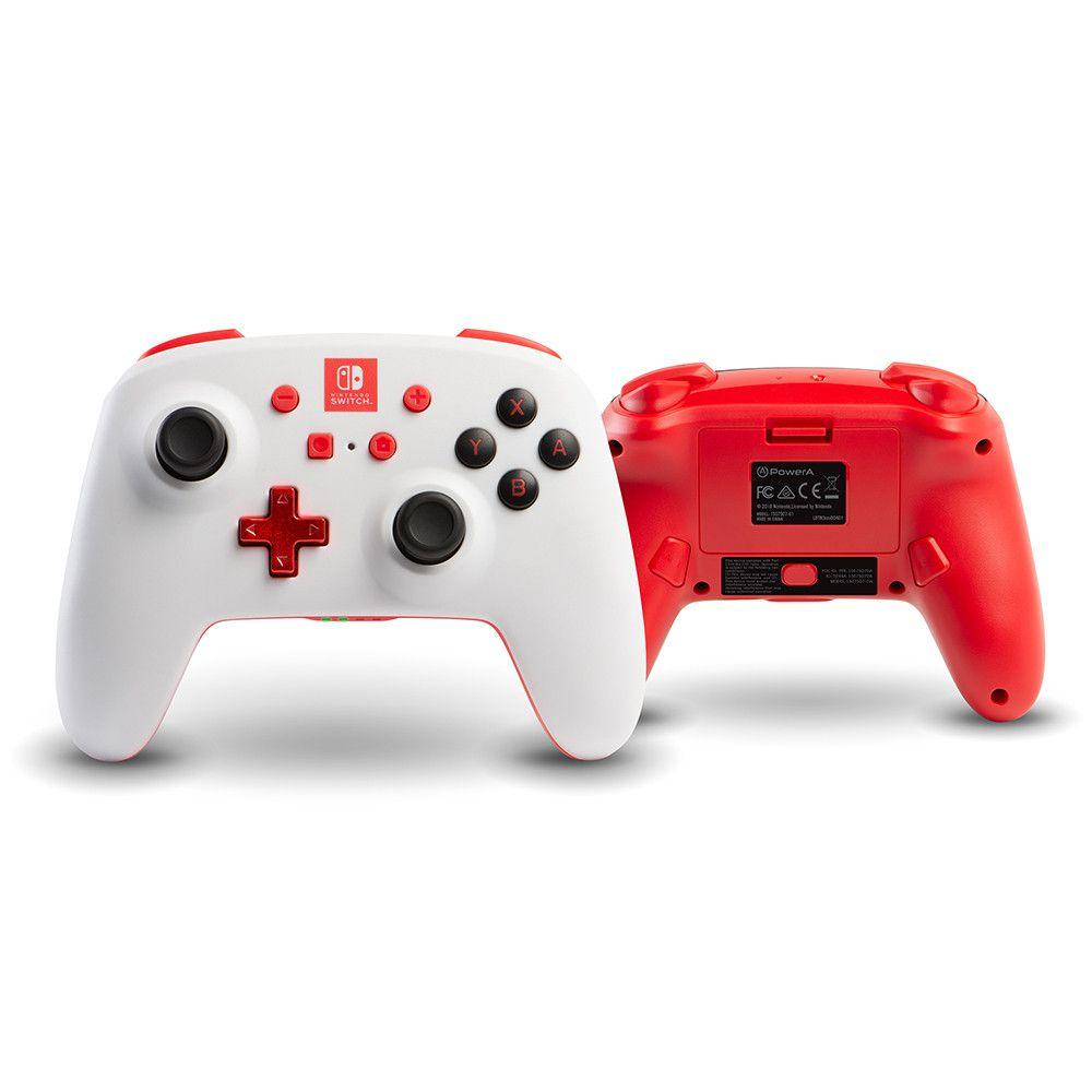 Controle Power a Enhanced Sem Fio White Edition 1879 - Nintendo Switch