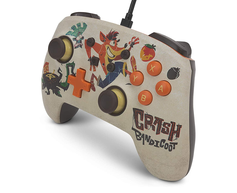Controle PowerA Enhanced Wired - Crash Bandicoot 4  - Nintendo Switch