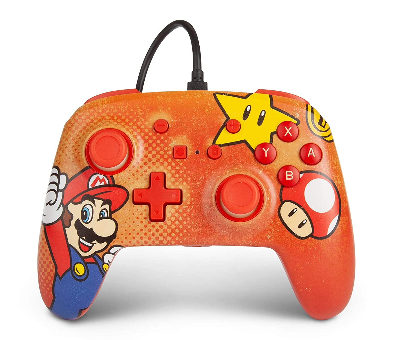 Controle PowerA com fio - Mario Vintage - Nintendo Switch