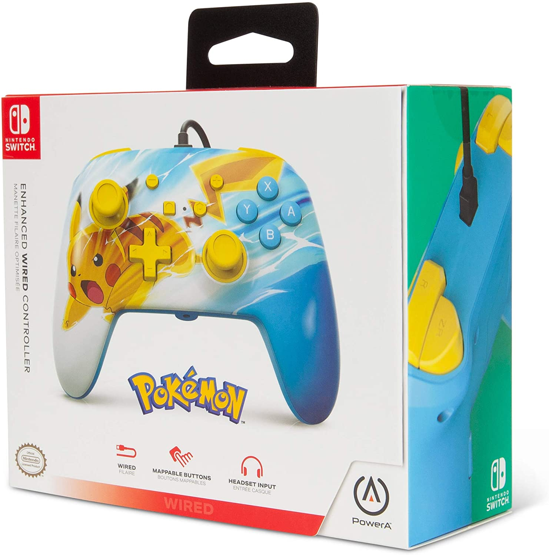 Controle PowerA com fio - Pikachu Charge  - Nintendo Switch