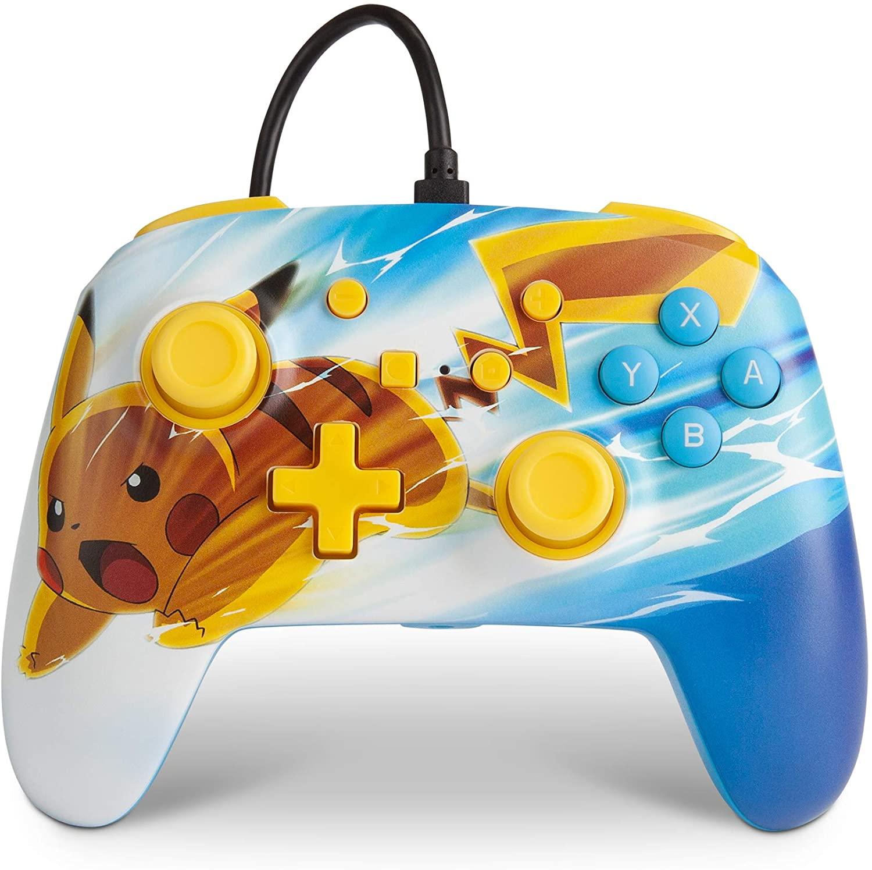 Controle PowerA Enhanced Wired - Pikachu Charge  - Nintendo Switch