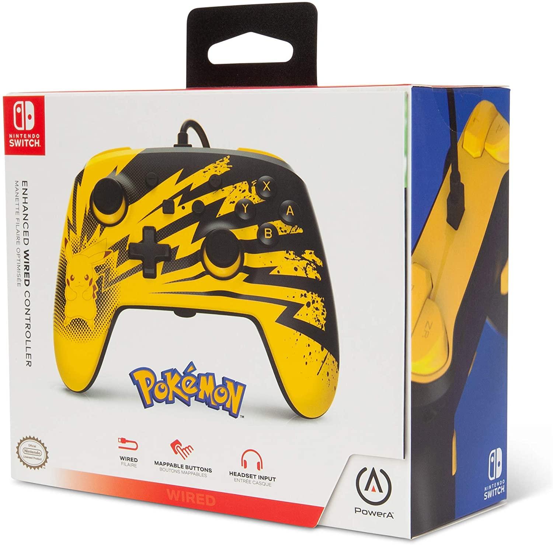 Controle PowerA Enhanced Wired - Pikachu Lightning  - Nintendo Switch