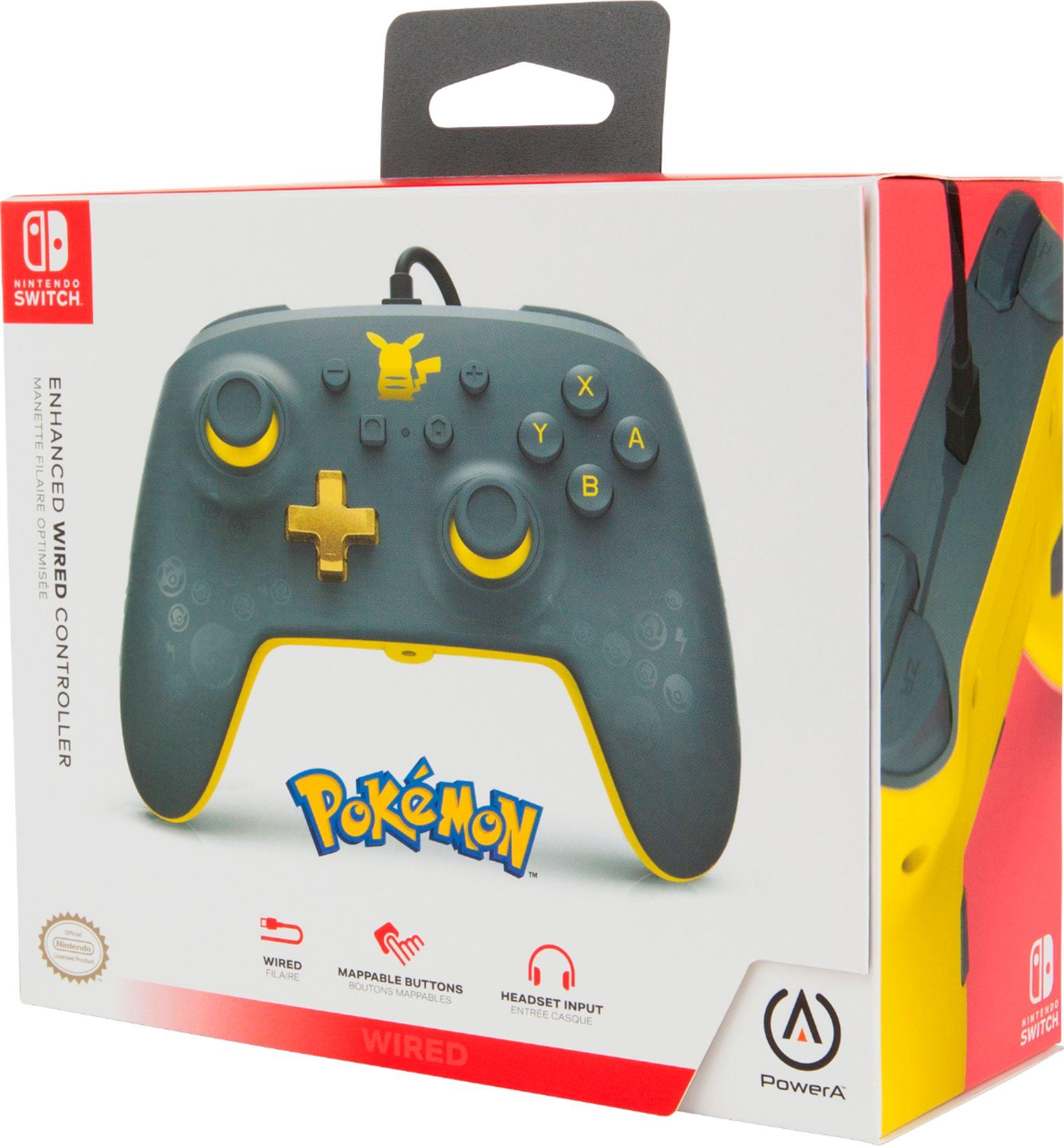 Controle PowerA com fio - Pikachu Grey - Nintendo Switch