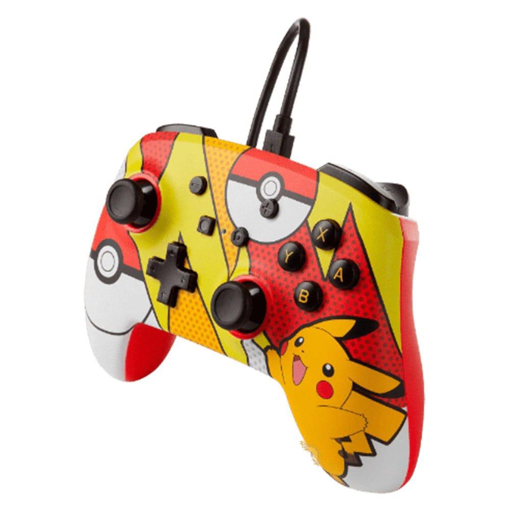 Controle PowerA com fio - Pikachu Pop Art - Nintendo Switch
