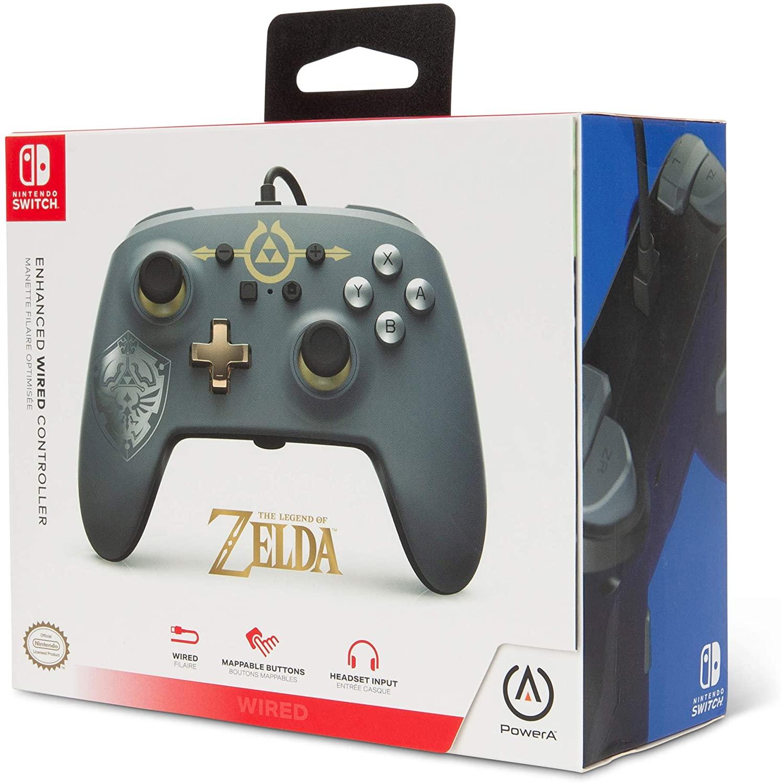 Controle PowerA com fio - Hylian Shield - Nintendo Switch