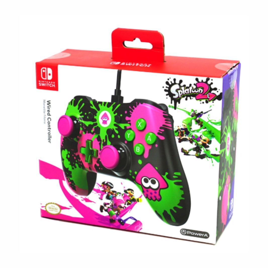 Controle Powera Splatoon Nintendo Switch Novo Original