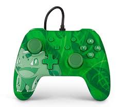 Controle Powera Wired  Bulbasaur Overgrow  verde - Nintendo Switch