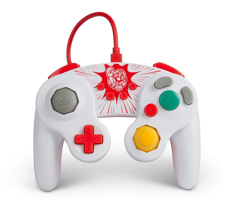 Controle PowerA Wired Controller - Mario GameCube  - Nintendo Switch