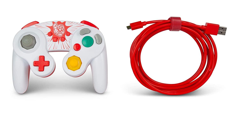 Controle PowerA com fio - Mario GameCube  - Nintendo Switch