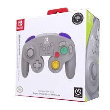 Controle Sem Fio Powera Game Cube  Cinza - Nintendo Switch