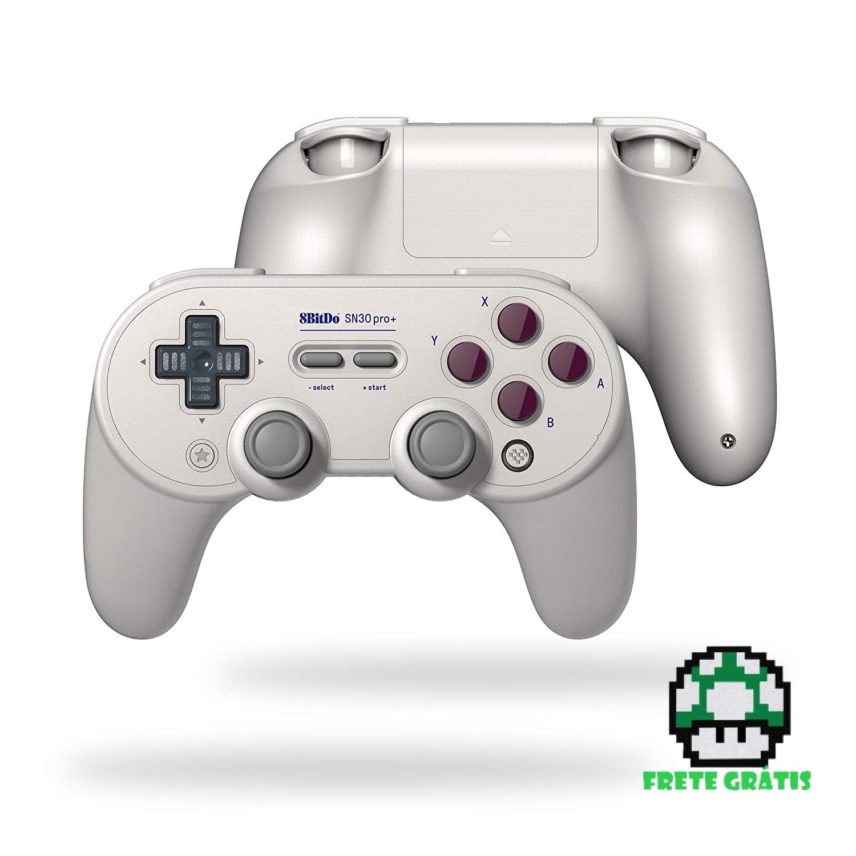 Controle SN30 Pro+ 8BitDo - Nintendo Switch - Envio Internacional - Frete Grátis