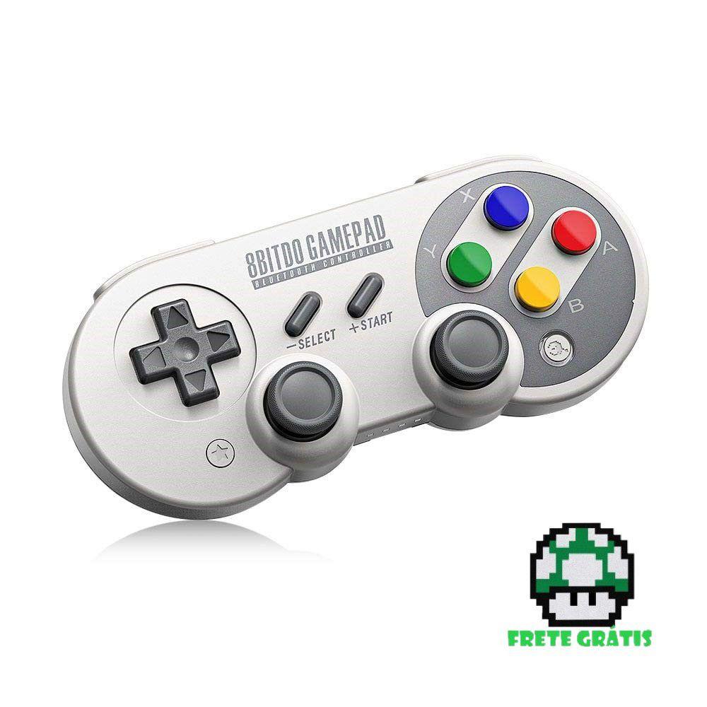 Controle SN30 Pro e SF30 Pro 8BitDo - Nintendo Switch - Envio Internacional - Frete Grátis