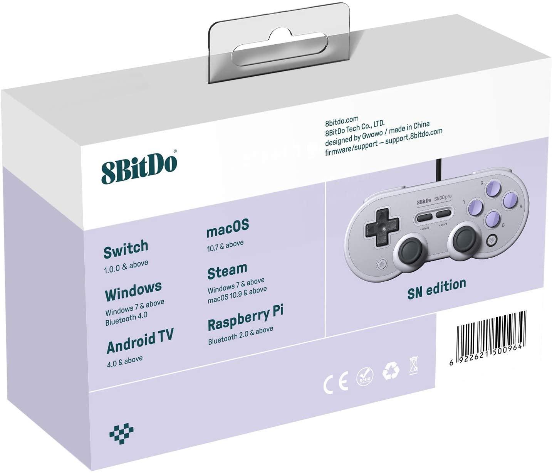 Controle SN30 Pro USB 8BitDo - Nintendo Switch - Pronta Entrega