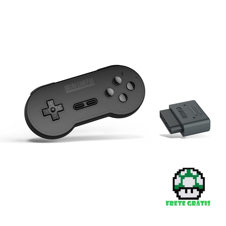 Controle SN30 Retrô Super Nintendo 8BitDo - Envio Internacional - Frete Grátis