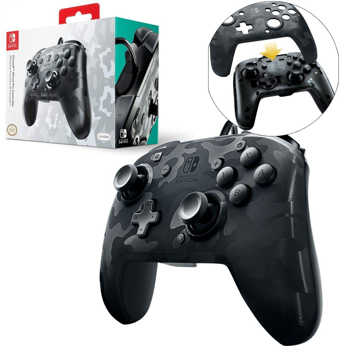 Controle Wired Camuflado - Nintendo Switch