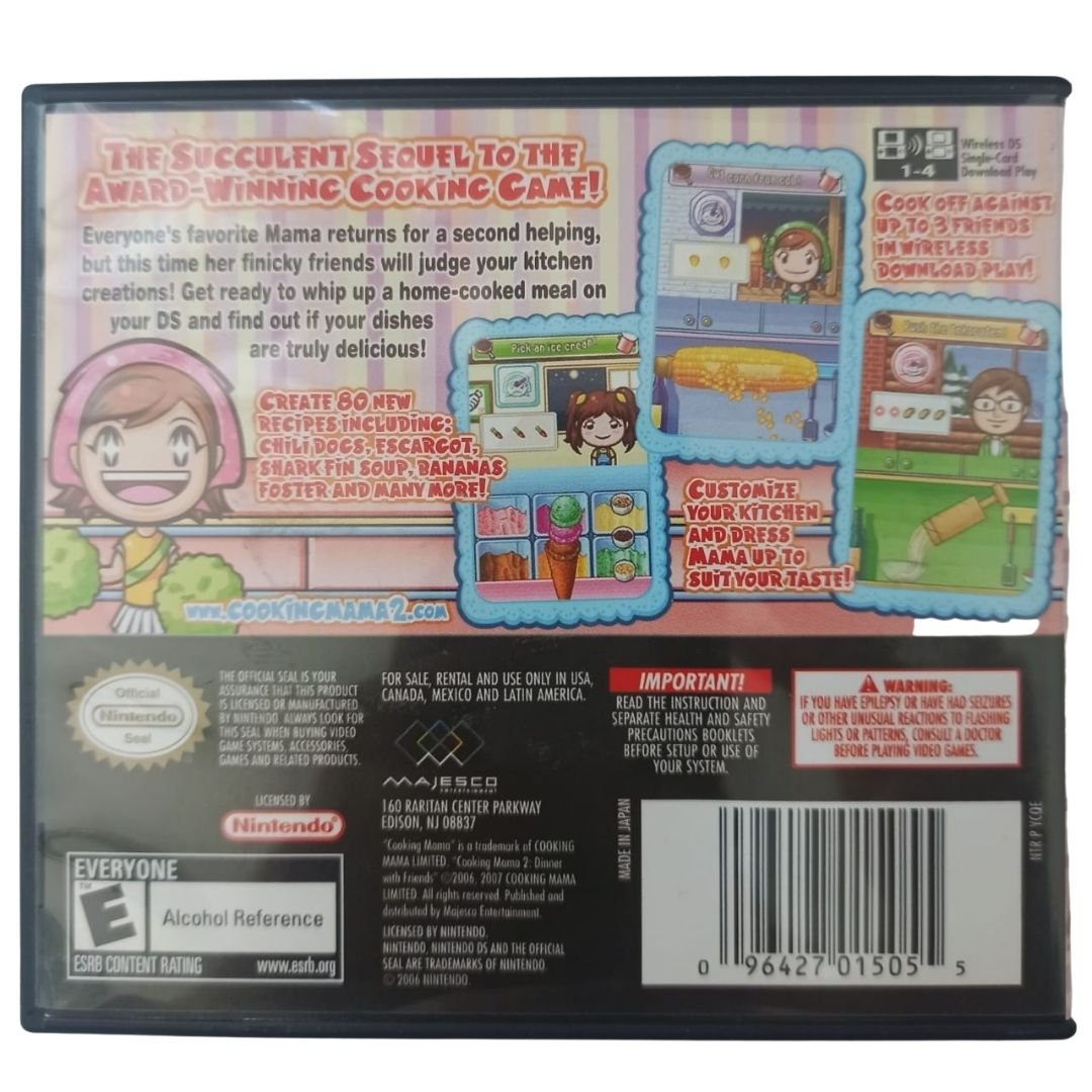 Cooking Mama 2: Dinner with Friends - Nintendo DS - Usado
