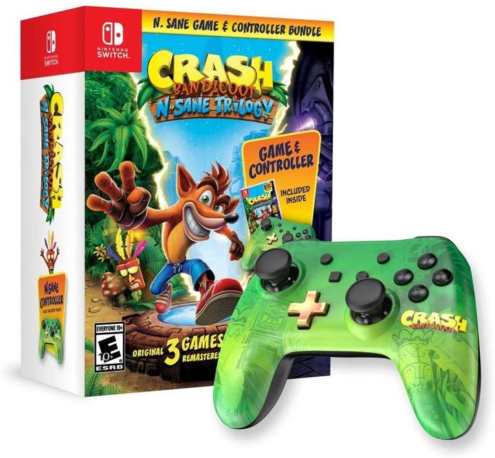Crash Bandicoot N'sane Trilogy Controller Bundle - Nintendo Switch