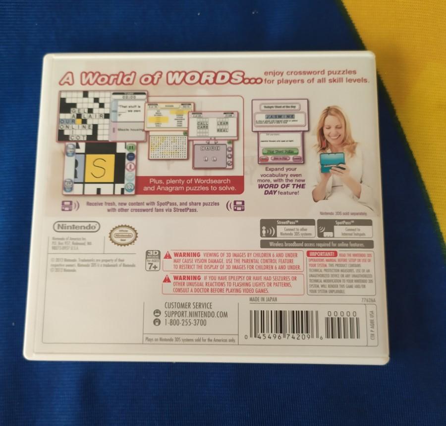 Crosswords Plus - Nintendo 3DS - Usado - Frete Grátis