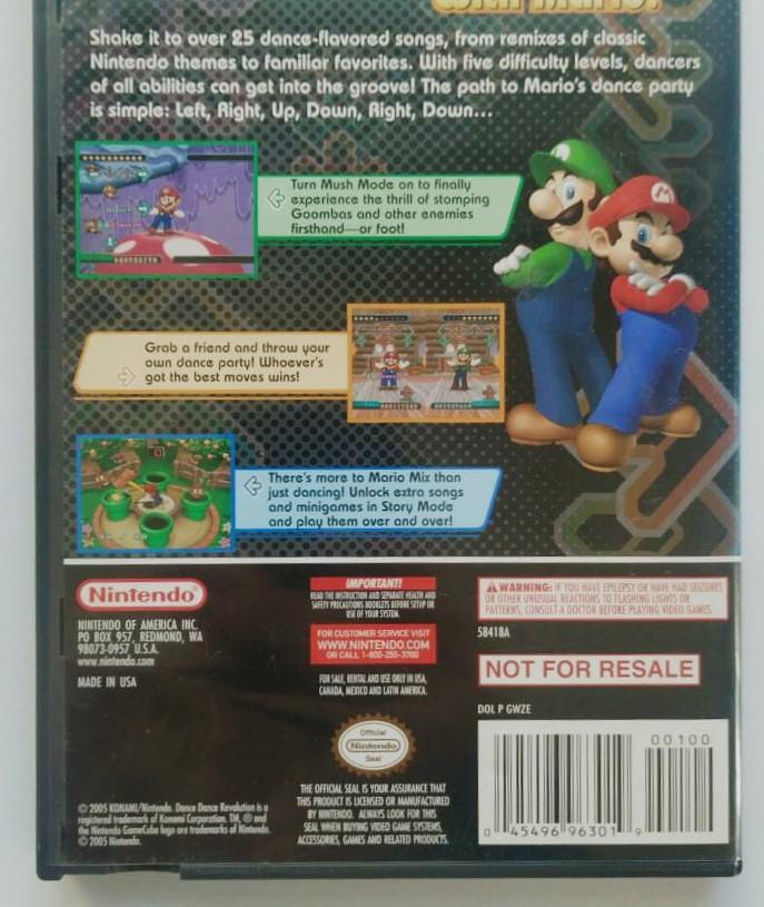 Dance Dance Revolution Mario Mix - Nintendo GameCube - Usado
