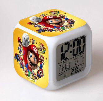 Despertador LED Mario Bros. Brilhante - Envio Internacional