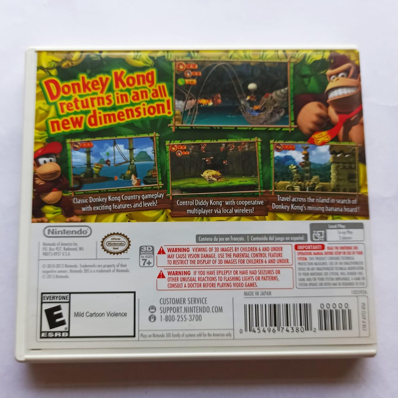 Donkey Kong Country Returns 3D - USADO - Nintendo 3DS
