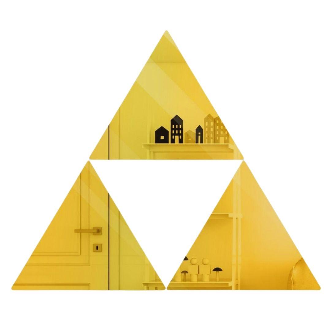 Espelho Decorativo em Acrílico - 58x24cm - Triângulos