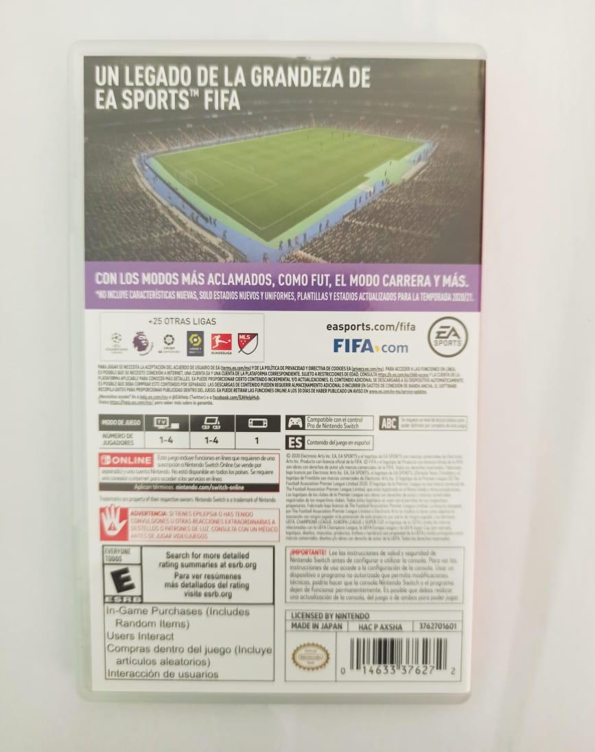 Fifa 21 - USADO - Nintendo Switch