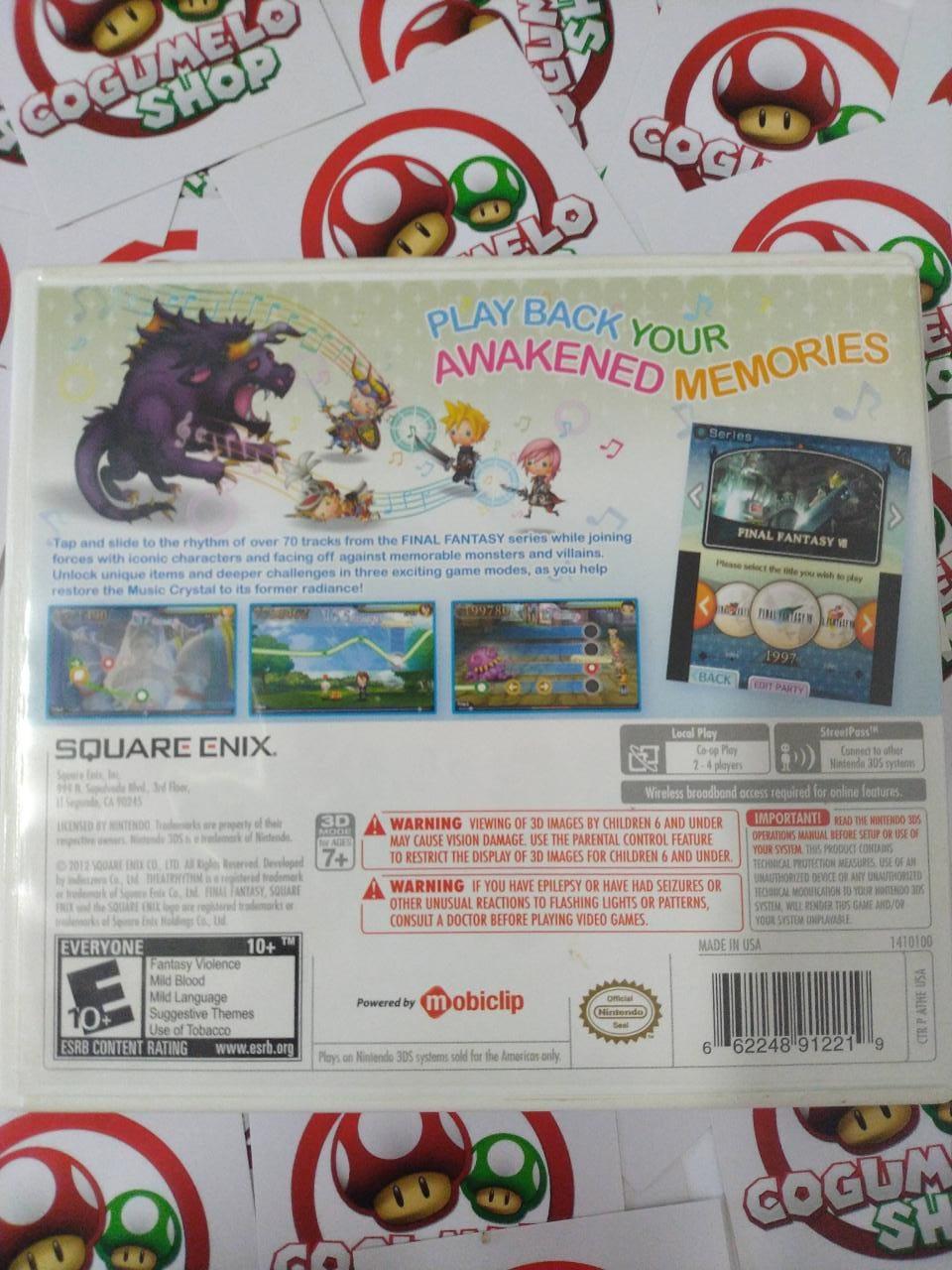 Final Fantasy Theatrhythm - USADO - Nintendo 3DS