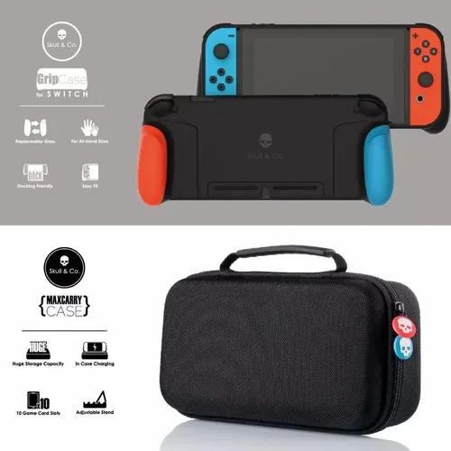 Grip Case + Bolsa Skull & CO. MAXCARRY para Nintendo Switch - Nintendo Switch