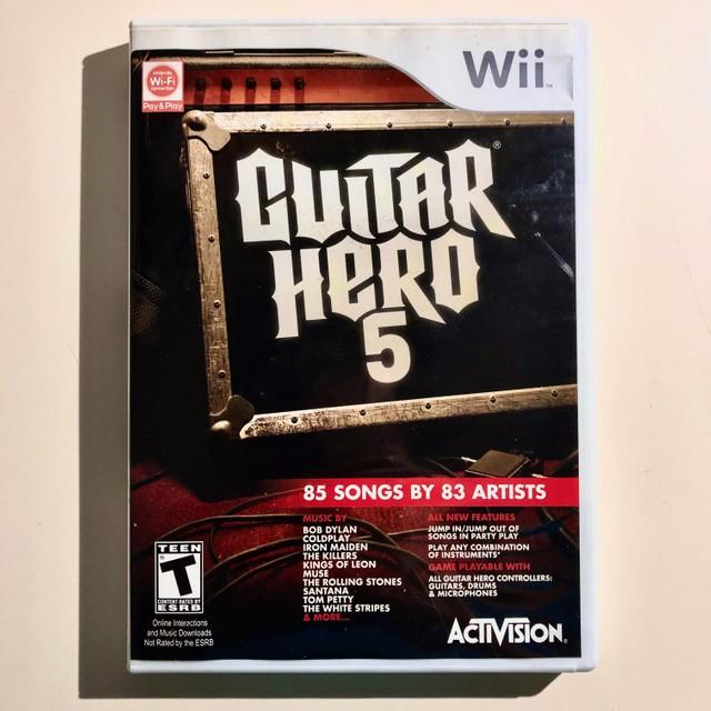 Guitar Hero 5 - USADO - Nintendo Wii